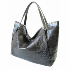 Большая женская сумка 3030 черно-серая