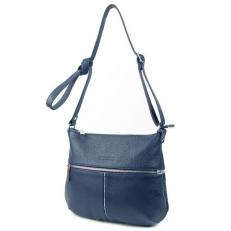 Синяя сумка с серебряной полоской 3041