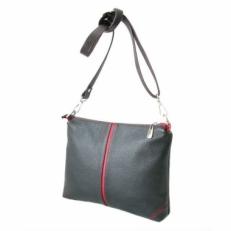 Черно-красная кожаная сумка женская 304.2