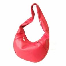 Сумка женская хобо 3069 красная кожа