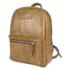 Бежевый женский кожаный рюкзак Анцолла