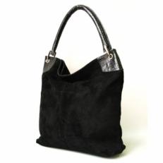 Большая замшевая сумка женская под формат А4