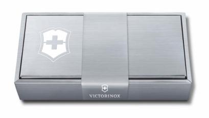 Подарочная коробка VICTORINOX для перочинных ножей серебристая