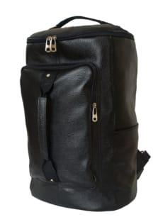 Кожаный рюкзак-сумка Верделло черный