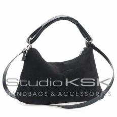 Черная женская сумочка из замши 3382
