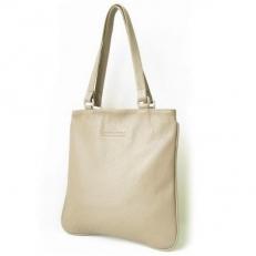 Плоская сумка из светлой кожи 3305