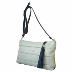 Белая сумка женская из натуральной кожи 3309