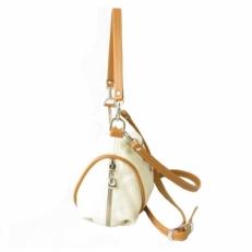 Женская кожаная сумочка 3314 бежевая фото-2