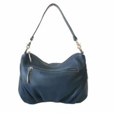 Женская кожаная сумочка 3314 синяя фото-2