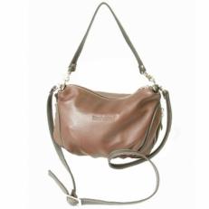 Женская кожаная сумочка 3314 коричневая фото-2