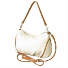 Женская кожаная сумочка 3314 бежевая