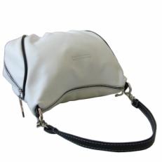 Небольшая кожаная белая сумочка женская 3314