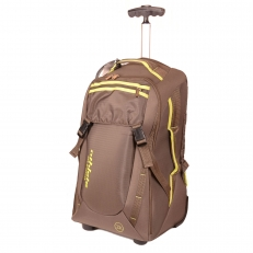 Рюкзак на колесах с выдвижной ручкой 336351 оливковый