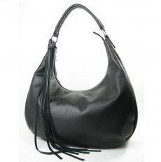 Кожаная черная сумка женская 3367