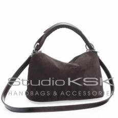 Маленькая сумочка женская из коричневой замши 3382