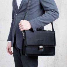 Портфель кожаный Gordon Black фото-2