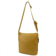 Женская сумка кросс боди цвета горчицы 3503