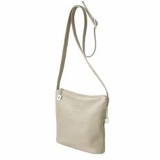Летняя сумка женская через плечо из светлой кожи 3503