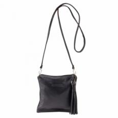 Полоская черная сумочка женская 3533