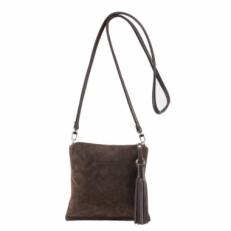 Коричневая женская сумочка из натуральной замши 3533