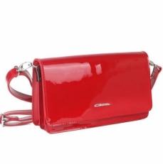 Женская лаковая сумочка 35449 красная