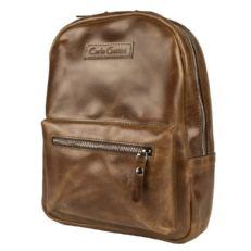 Женский кожаный рюкзак Анцолла коричневый
