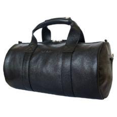 Мужская спортивная сумка из кожи Доссоло черная