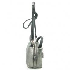 Мини сумочка женская 3822 серебряная фото-2