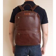 Кожаный рюкзак Таволара темно-терракотовый фото-2