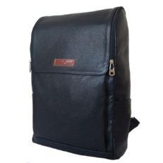 Большой кожаный рюкзак Туфетто черный