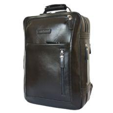 Дорожная сумка рюкзак из кожи Катиллон черная