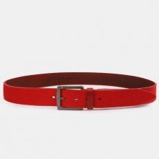 Красный джинсовый текстильный ремень AT40-181