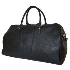 Кожаная дорожная сумка Кампелли черная