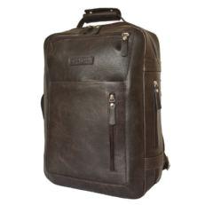 Дорожный кожаный рюкзак Катиллон коричневый