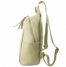 Кожаный рюкзак бежевый 5015 фото-2