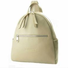 Кожаный рюкзак бежевый 5015