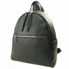 Кожаный черный рюкзак 5015
