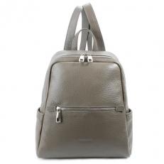 Бежево-серый рюкзак из кожи 5045 фото-2
