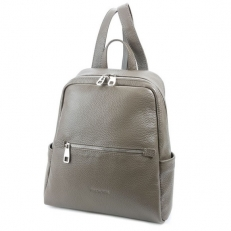 Бежево-серый рюкзак из кожи 5045