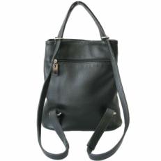 Кожаная сумка-рюкзак KSK 5208 черная фото-2