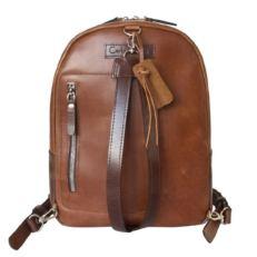 Кожаный рюкзак Альбера коричневый фото-2