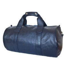 Спротивная сумка из кожи Доссоло темно синяя