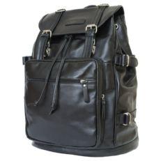 Кожаный рюкзак Волтурно черный