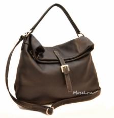 Большая мягкая сумка женская с клапаном 3021