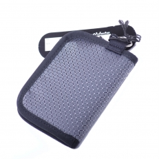 Текстильный кошелек на молнии 60094 серый фото-2