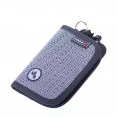 Текстильный кошелек на молнии 60094 серый
