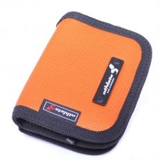 Оранжевый тканевый кошелек на молнии 60135