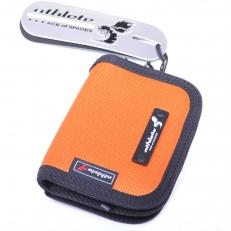 Оранжевый тканевый кошелек на молнии 60135 фото-2
