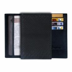 Обложка для паспорта из кожи питона, цвет: черный матовый