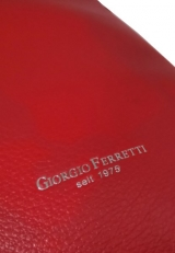 Красный кожаный рюкзак 6101 фото-2